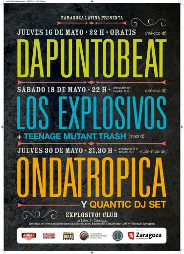 Cartel de conciertos en la Sala Explosivo Club