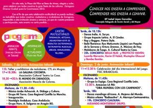 Reverso programa IX Zaragoza Diversa