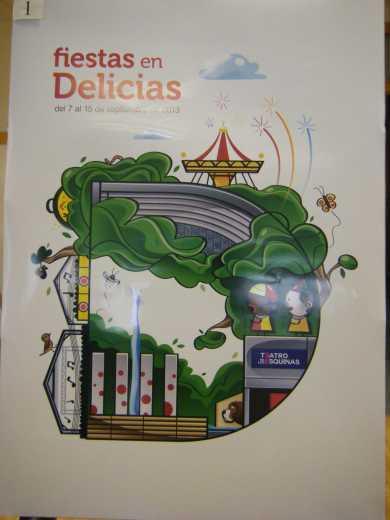 Cartel Fiestas Delicias 2013