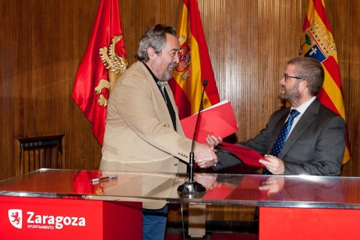 firma convenio Ayto Zaragoza-Caja Rural Soria
