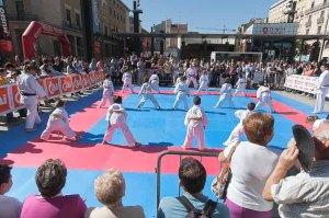 """Kárate de """"Deporte en la calle 2012"""" en la Plaza del Pilar de Zaragoza"""