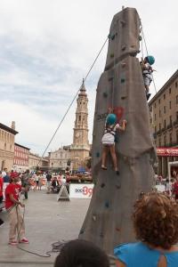 "Rocódromo ""Deporte en la calle 2012"" en la Plaza del Pilar de Zaragoza"