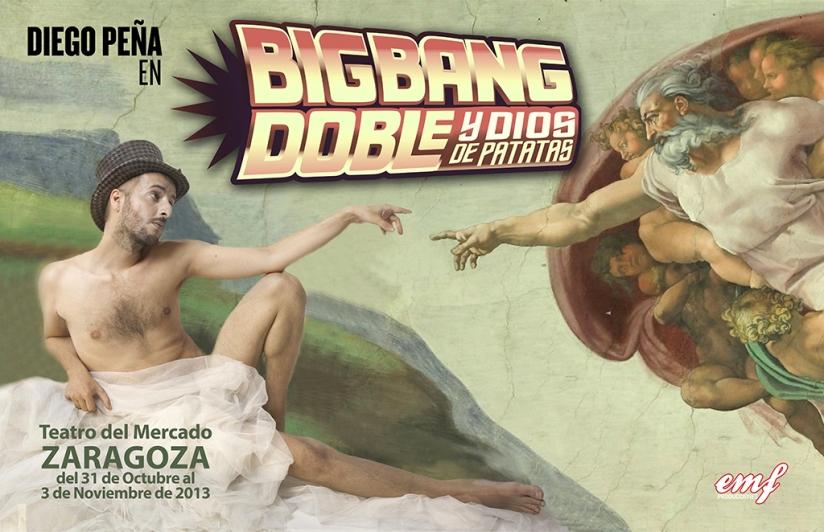 Cartel del espectáculo de Diego Peña en el Teatro del Mercado