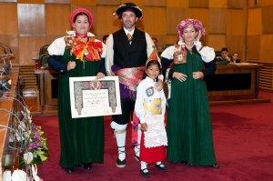 Fernando Navarro y familia