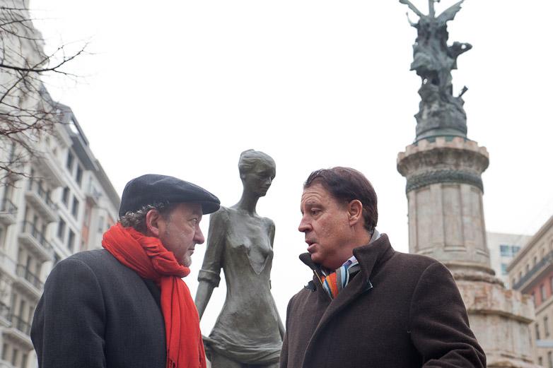 Esculturas en Plaza España