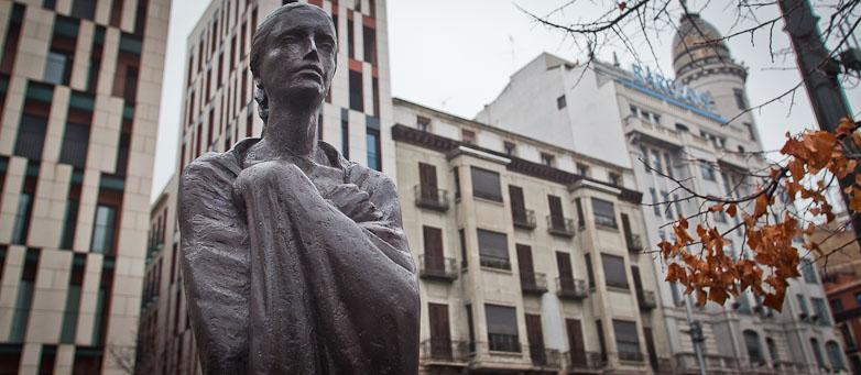Gómez Ascaso enPlaza España