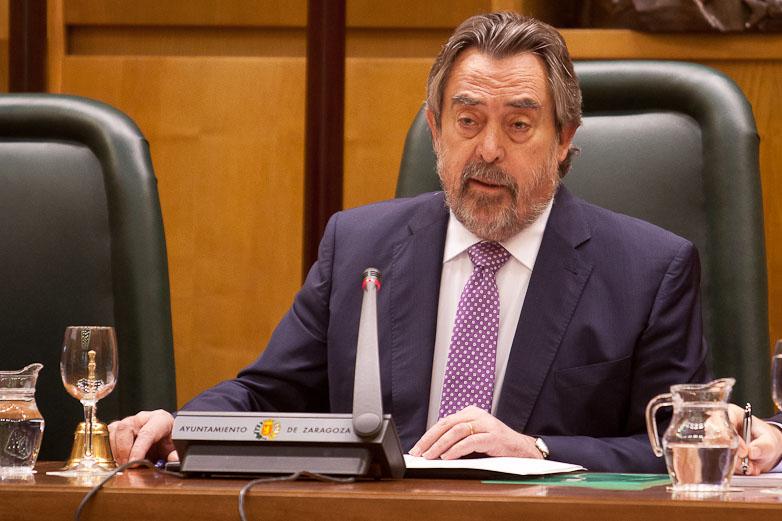 Juan Alberto Belloch_durante su discurso en el Debate de la Ciudad 2013