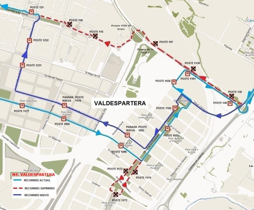 Línea N4 valdespartera