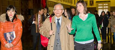 Visita chinos al Ayuntamiento de Zaragoza